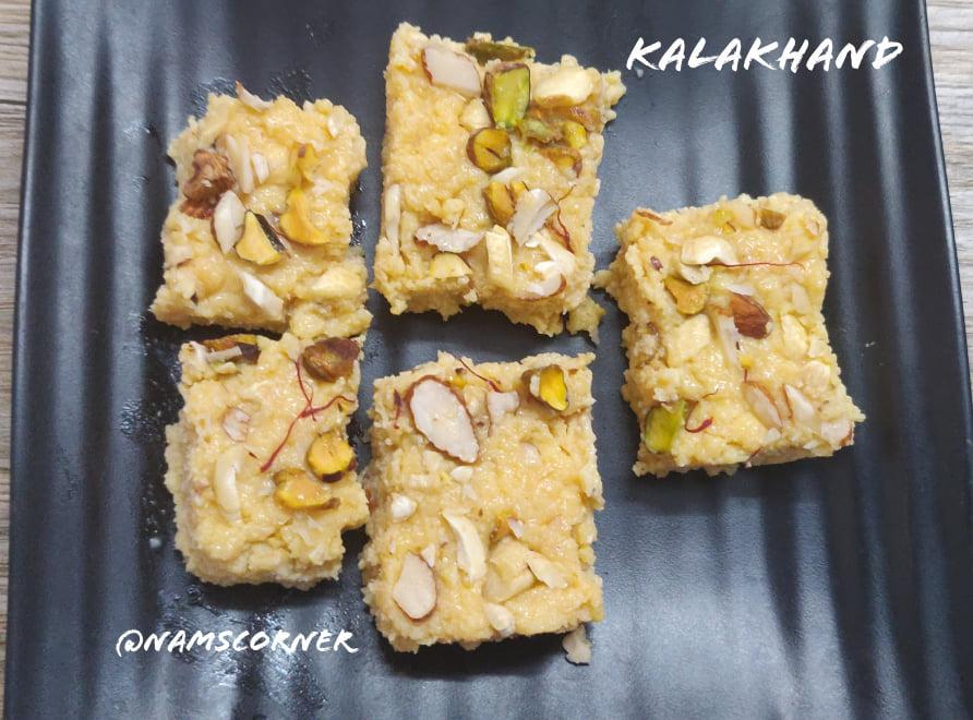 Kalakhand Recipe | Instant Kalakhand recipe