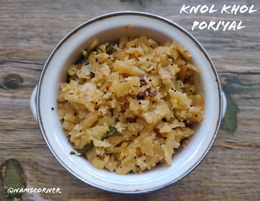 Knol khol Poriyal | Kohlrabi Stir fry