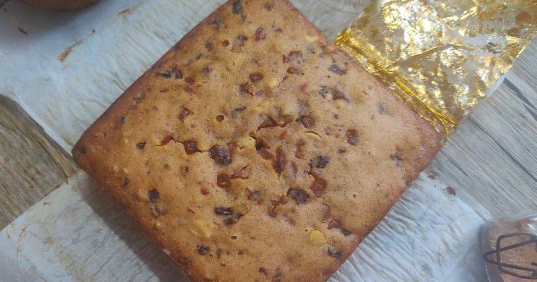 Whole Wheat Christmas Fruit Cake without alcohol | Kolkata Christmas Plum Cake without oven
