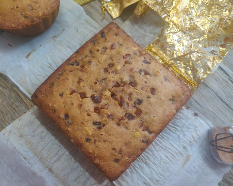 Whole Wheat Christmas Fruit Cake without alcohol   Kolkata Christmas Plum Cake without oven