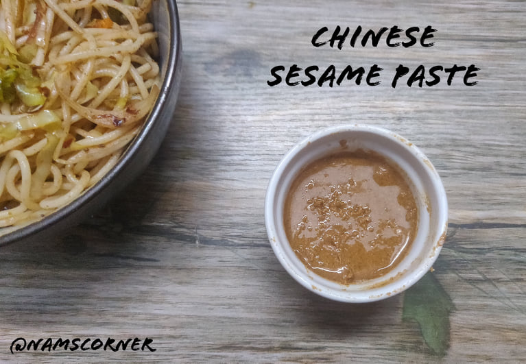 Chinese Sesame Paste Recipe | How to make Chinese Sesame Paste