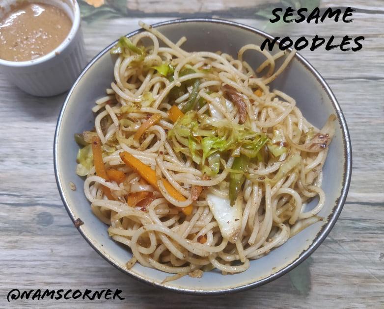 Sesame Noodles Recipe | Vegetable Sesame Noodles