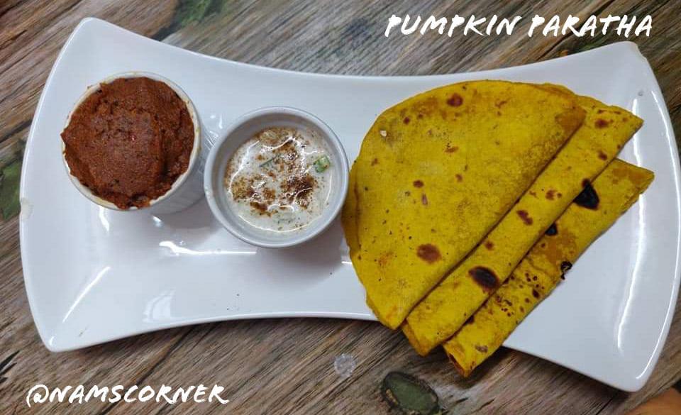Pumpkin Paratha Recipe | Yellow Pumpkin Paratha