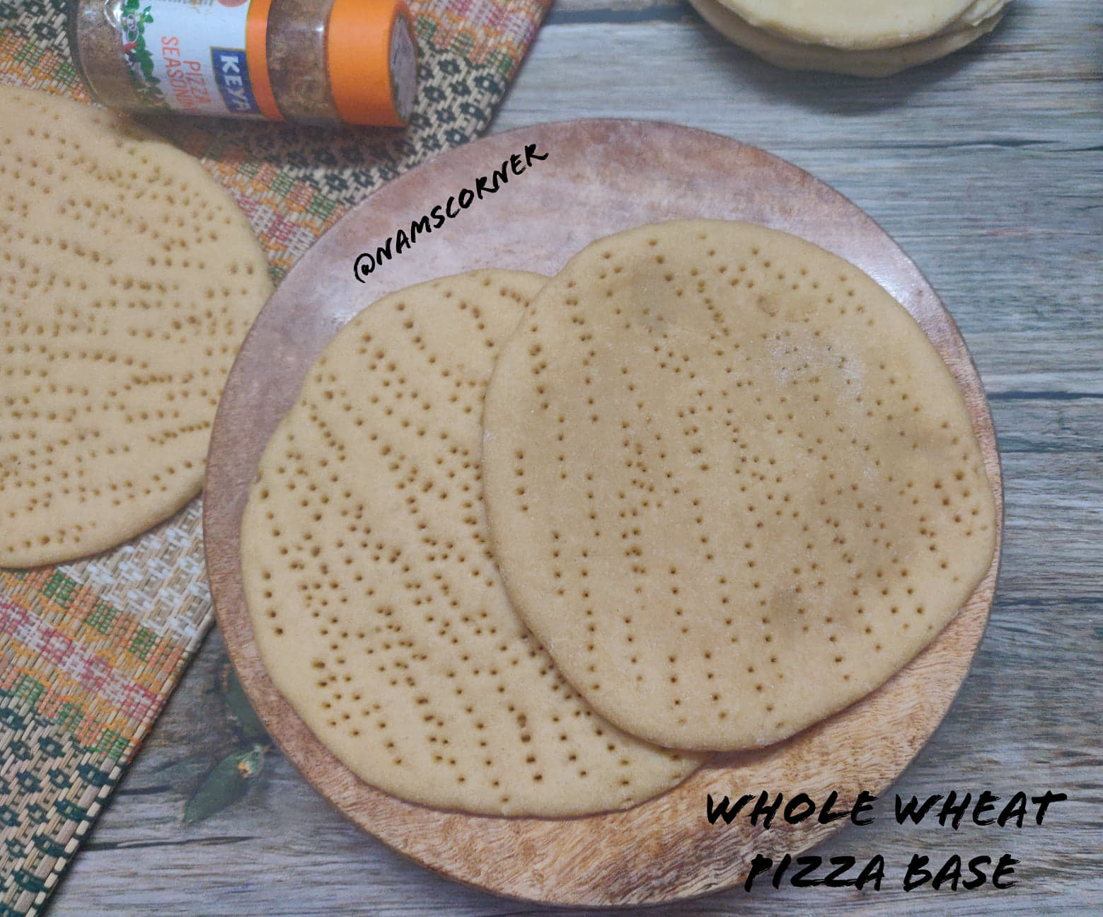 Whole Wheat Pizza Base Recipe | Whole Wheat Pizza Dough | Homemade Wheat Pizza Crust without oven