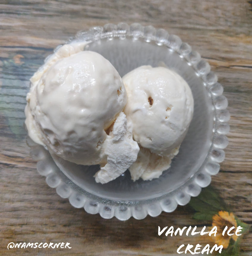 Vanilla Ice Cream Recipe | Homemade Vanilla Ice Cream | 3 Ingredient Vanilla Ice Cream