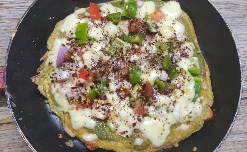 Bread Omelette Pizza Recipe   Omelette pizza   Quick Pizza