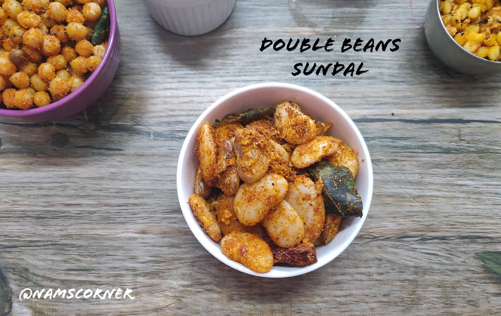 Double Beans Sundal Recipe   Double Beans Masala Sundal
