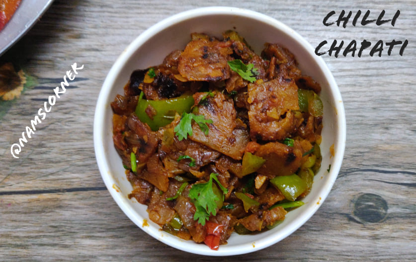 Chilli Chapati Recipe | Leftover Chapathi recipe