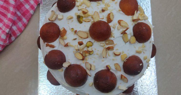 Gulab Jamun Cake Recipe | Eggless Gulab Jamun Cake