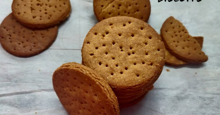 Digestive Biscuits Recipe | Healthy Whole Wheat Oats Digestive Biscuits in Air Fryer
