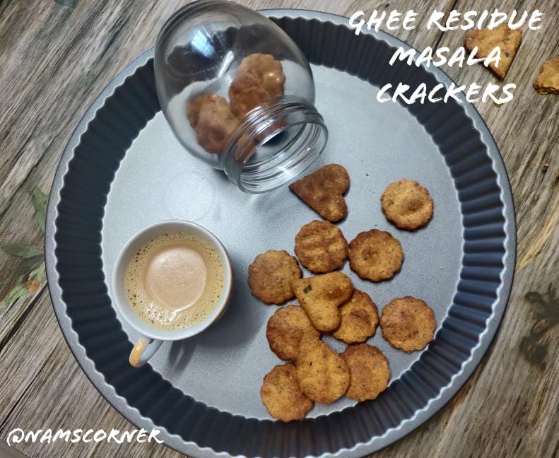 Ghee Residue Masala Crackers Recipe | Ghee Residue Masala Biscuits