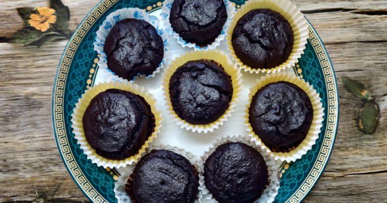 Ragi Chocolate Banana Muffins Recipe | Eggless Finger Millet Banana chocolate muffins in Air Fryer