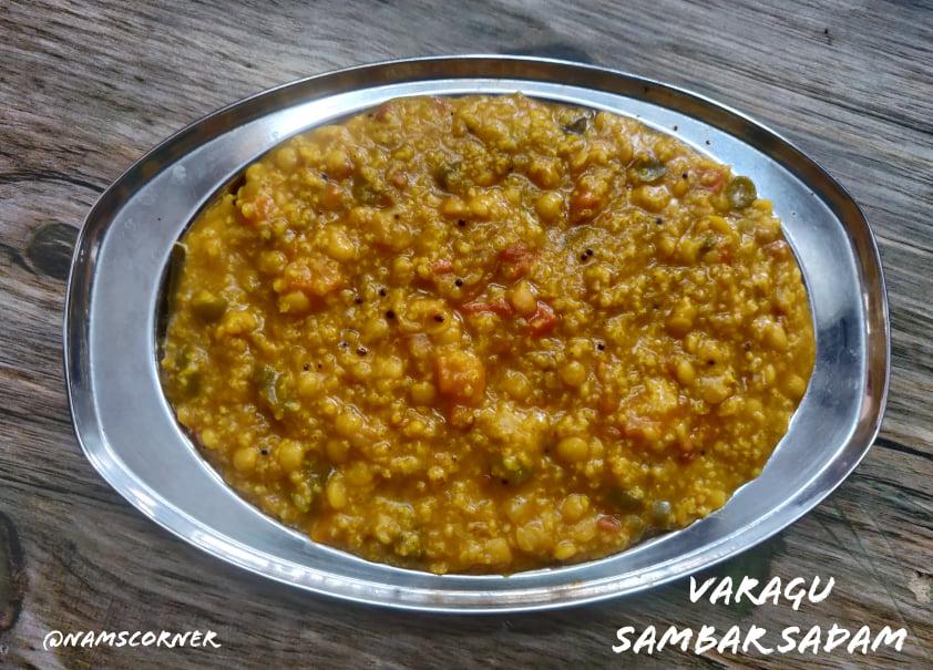 Kudo Millet Sambar Rice Recipe | Varagu Sambar Sadam