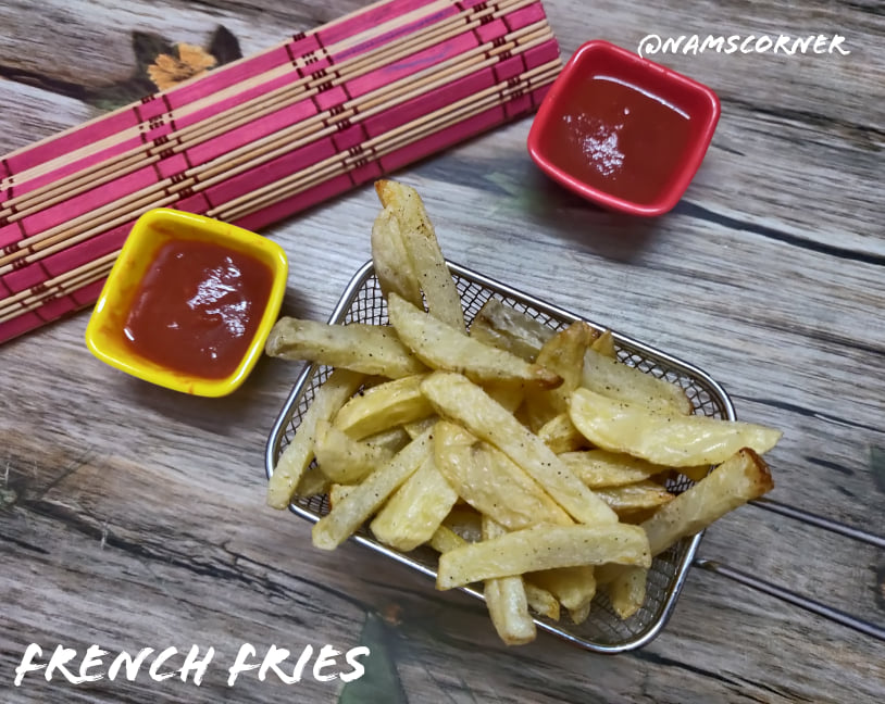 French Fries Recipe | Air Fried French Fries | How to make crispy french fries in home