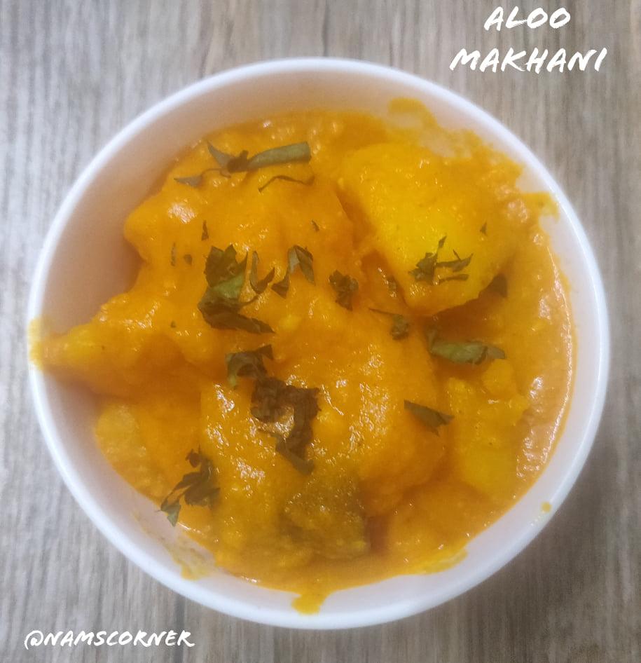 Aloo Makhani Recipe   Potato in Makhani Sauce
