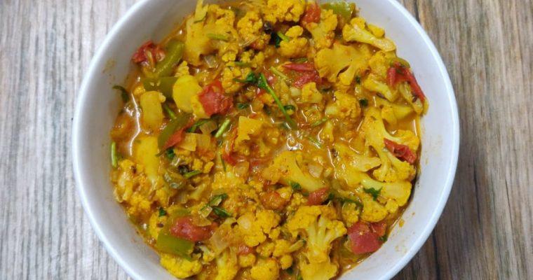 Cauliflower Capsicum Masala | Gobi Capsicum masala